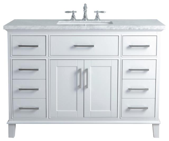 Leigh White Single Sink Bathroom Vanity