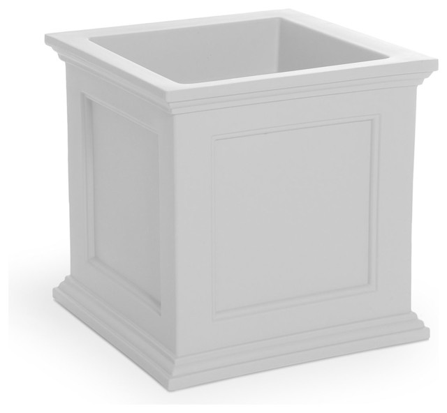 Square patio planter traditional outdoor pots and planters