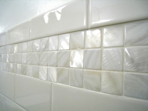 Would These Mother Of Pearl Tiles Also Be Suitable Or Shower Walls Or Even  Floors?