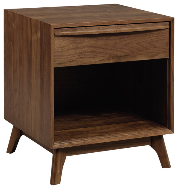 Copeland Furniture Catalina 1 Drawer Dresser, Natural Walnut.
