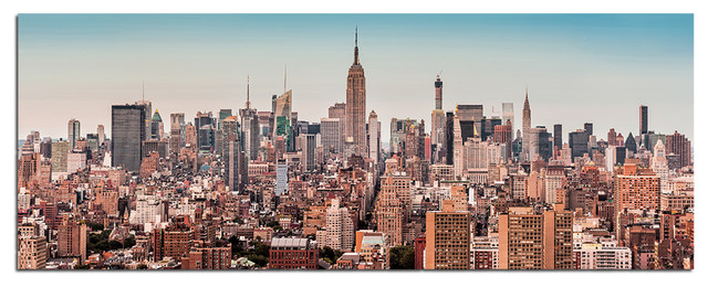 New York City Wall Art tempered glass wall art, new york city skyline 2 - traditional