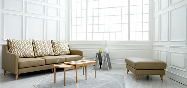 Dwell (Echo) Scandinavian Leather Sofa - Skandinavisch ...