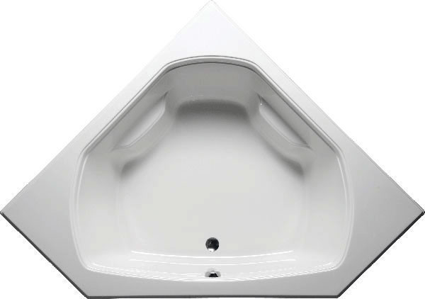 Quantum Corner, Builder Series, Bathtub, White.