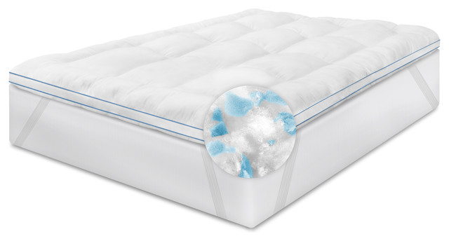 Memoryloft Deluxe 3 Memory Foam And Fiber Bed Topper With