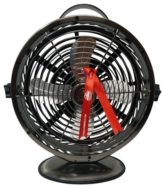 Gunmetal Grey Lightweight Fan, Decorative Table Fan.