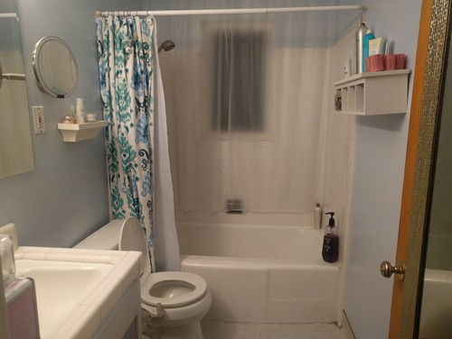 need help redecorating this beauty challenged bathroom
