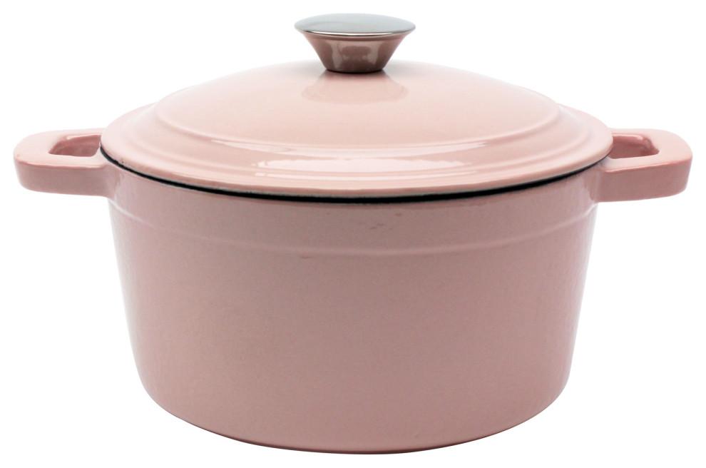 Neo 3qt Cast Iron Round Cov Stockpot Pink Stockpots By Berghoff International Inc