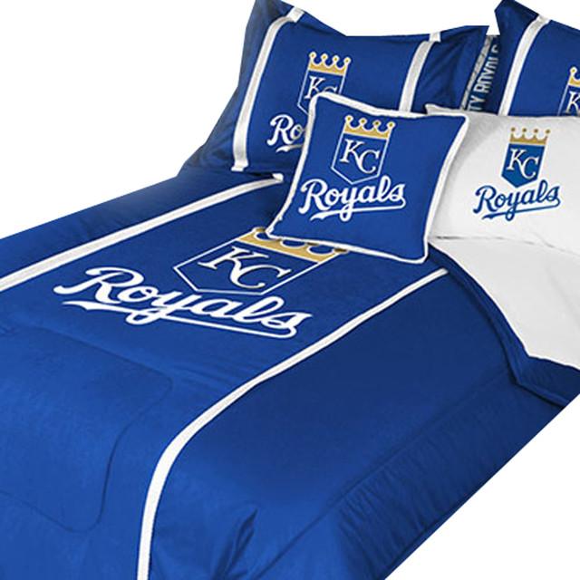 Mlb Kansas City Royals Bedroom Set Baseball Bedding Drapery