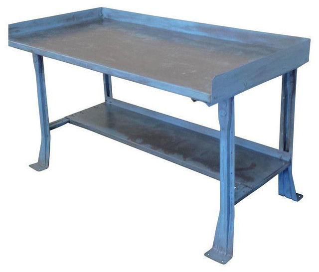 Mid Century Industrial Steel Work Bench Table Desk  : industrial side tables and end tables from www.houzz.com size 640 x 546 jpeg 50kB