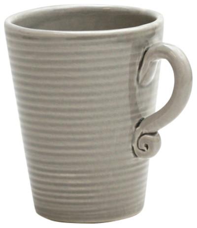 d46d2512400 Handmade Striped Ceramic Coffee Cups, Set of 6 - Contemporary - Cappuccino  & Espresso Cups - by Gerbera AB