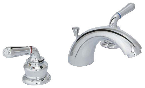 Huntington Brass 3 Piece 8 Wide Spread Vanity Faucet Traditional Bathroom Sink Faucets By