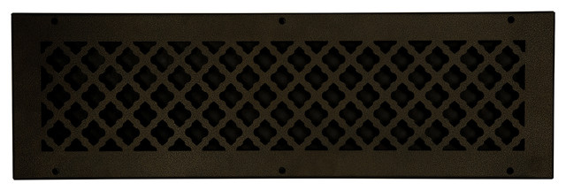 "Steel Return Vent Cover, Oil-Rubbed Bronze, Fits Duct Opening 24""x6""."