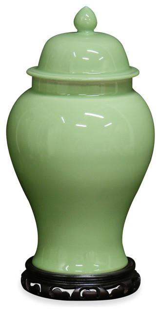 Celadon Porcelain Ginger Jar Asian Artwork By China