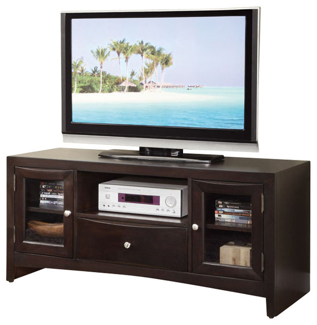 Modern Versatile Wood Entertainment Tv Stand Console Shelves Drawer