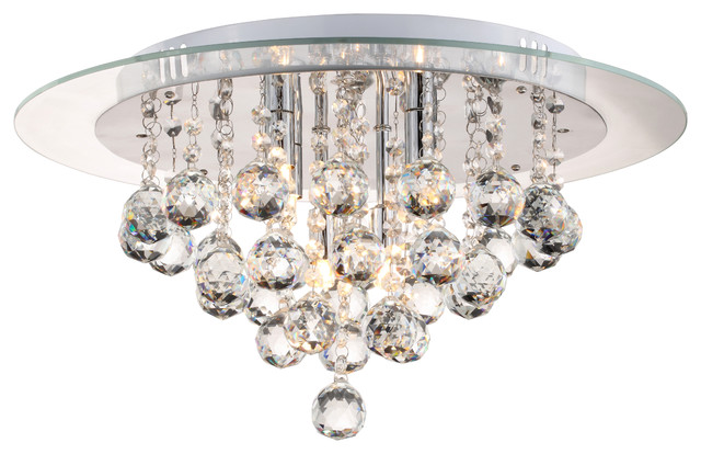 Nore Flush Mount Crystal Drop Ceiling Light