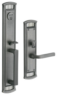 6999033LDBL Richland Left Hand Double Cylinder Entry Mortise Lock Trim - Transitional - Door ...