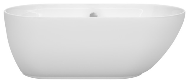 "Freestanding Bathtub, White, 60"", Without Faucet."