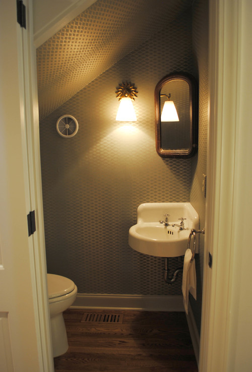 Very best Does it have a pocket door? Great powder room! AU61