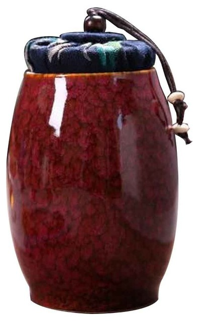 Ceramics Canister Collection Tea Container Mini Coffee Storage 13.67 Oz, C.