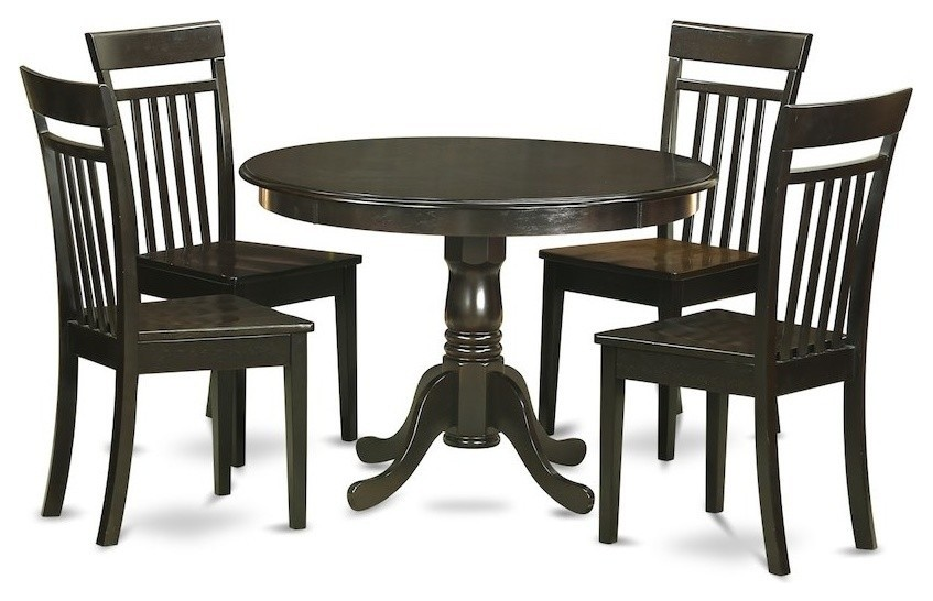 5-Piece Kitchen Nook Dining Set, Breakfast Nook, Table And 4 Dinette Chairs
