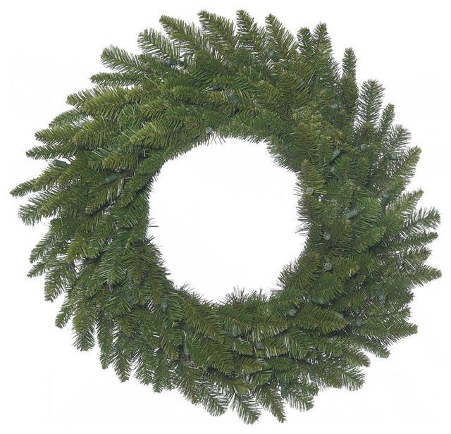 "36"" Durango Spruce Wreath 240 Green Pvc Tips."