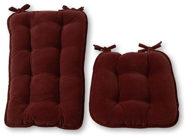 Jumbo Rocking Cherokee Solid Chair Cushion, Wine.