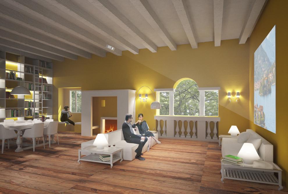 Open space in un salone antico