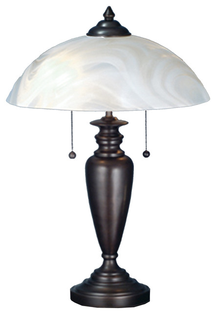 "Meyda Lighting 70408 21.5""h Blanco Swirl Table Lamp."