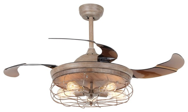 rustic ceiling fan light fixtures fans lights with blades remote farmhouse covers
