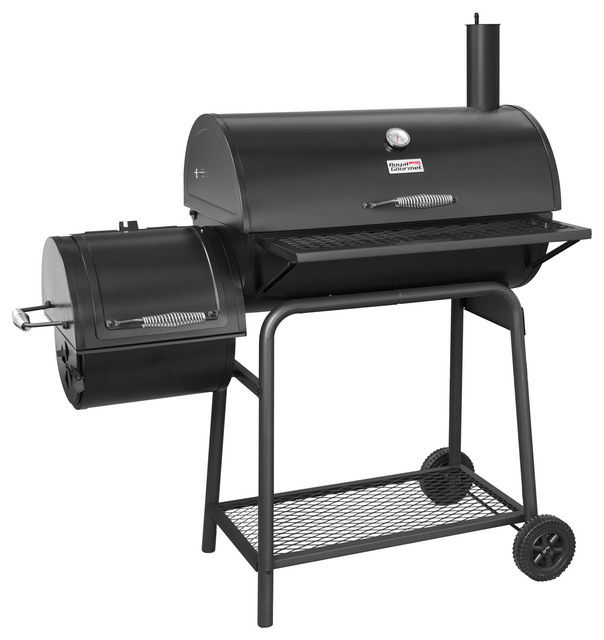 30&x27;&x27; Charcoal Grill With Smoker.