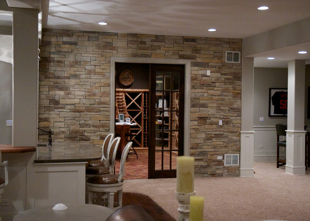 Interior Design With Stone Veneer Traditional Chicago By North Star Stone