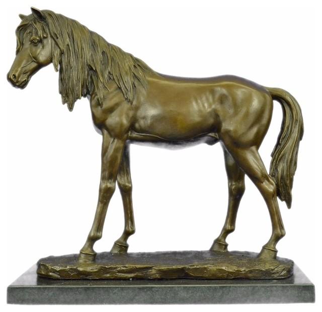 sculpture Arabian Horse Head bust trophy