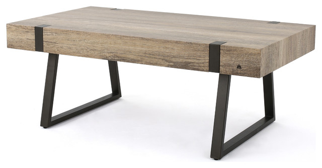 GDFStudio   Genwa Canyon Gray Wood Coffee Table   Coffee Tables