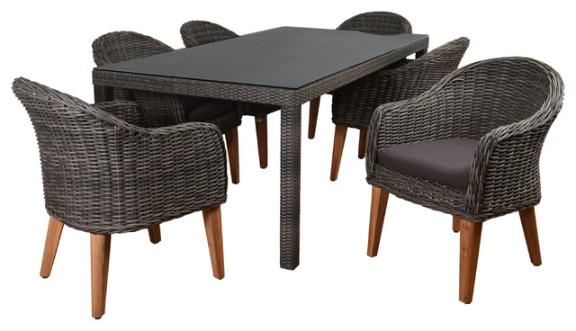 Atlantic Merrick 7-Piece Outdoor Dining Set With Cushions.