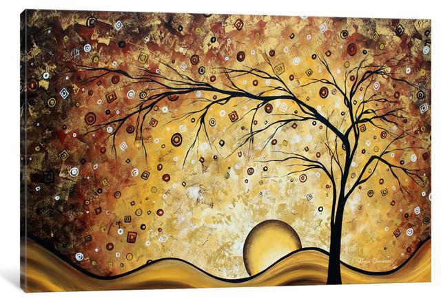 """golden Rhapsody Gallery"" By Megan Duncanson, 60x40x1.5""."