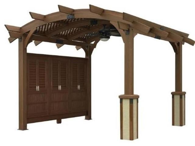 Outdoor Greatroom Company Sonoma 16-M Sonoma Arched Wood Pergola, Douglas Fir.