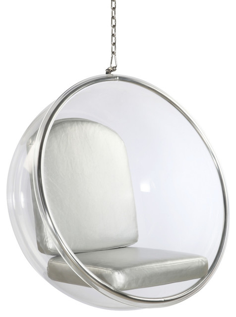 Beau Fine Mod Imports Bubble Hanging Chair, Silver