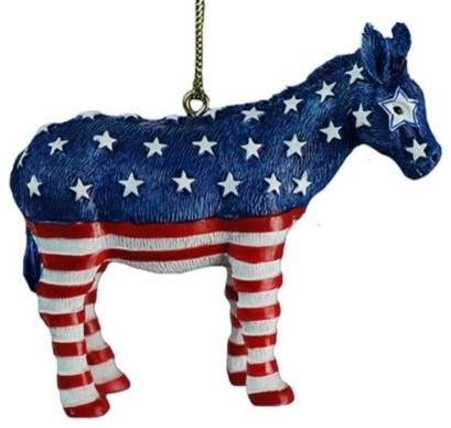 Donkey Christmas Ornaments.Kurt Adler 3 4 Resin Donkey Ornament