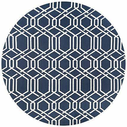 Covington Ariatta Round Outdoor Rug Contemporary Outdoor Rugs