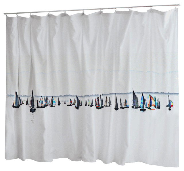 Uneekee Uneekee Sailboats Shower Curtain Shower Curtains Houzz