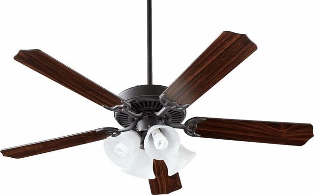 """52"""" Capri V Ceiling Fan, Old World."""