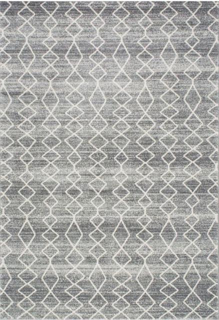 Geometric Moroccan Trellis Rug Gray