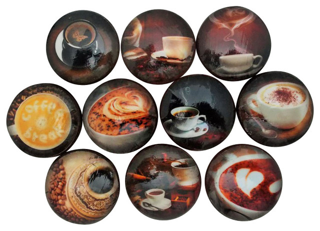 Twisted R Design Set of 10 Coffee Break Cabinet Knobs ...