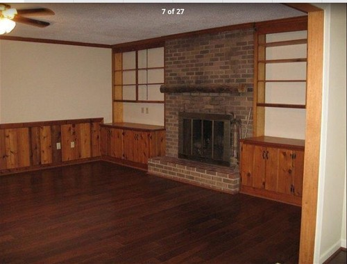- Painting Wood Paneling/ Shelves And Updating Old Fireplace