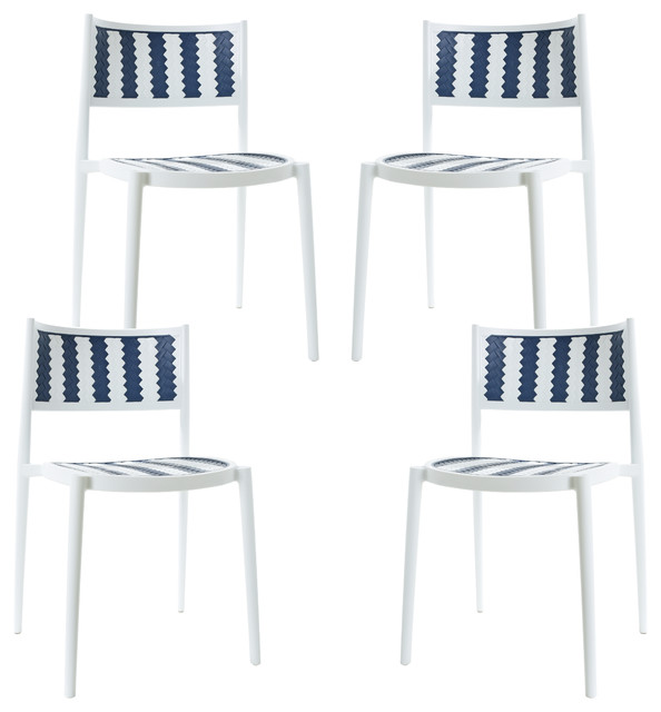 Prime Poly And Bark Tuxedo Indoor Outdoor Dining Chair Set Of 4 Bralicious Painted Fabric Chair Ideas Braliciousco