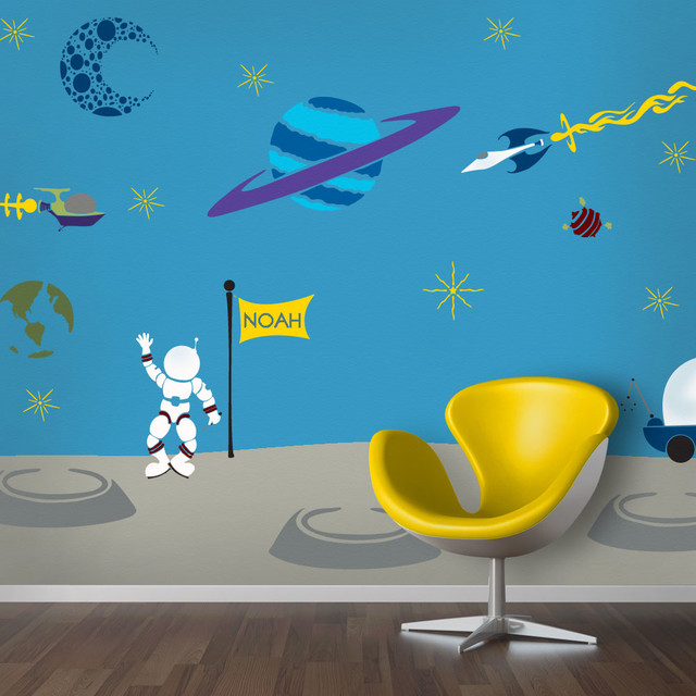 Outrageous Space Wall Mural Stencil Kit For Painting   Contemporary   Wall  Stencils   By My Wonderful Walls
