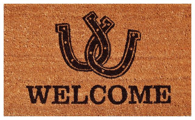 Horseshoe Welcome Doormat.