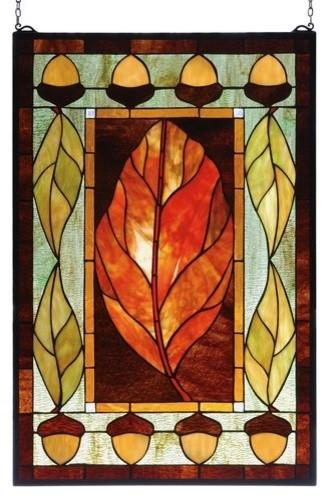 Meyda Tiffany 73207 Acorns Stained Glass Tiffany Window