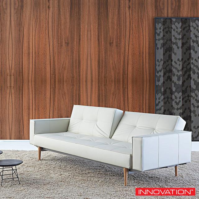 innovation split back sofa with arms wood modern. Black Bedroom Furniture Sets. Home Design Ideas