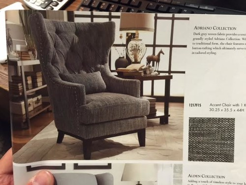 tufted living room chair.  LIVING ROOM FURNITURE HELLLP too much tufted